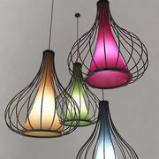 Lampa sufitowa - kolor 3d model