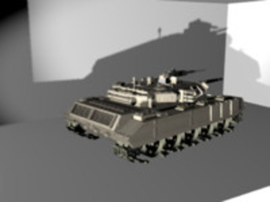 army tank royalty-free 3d model - Preview no. 4