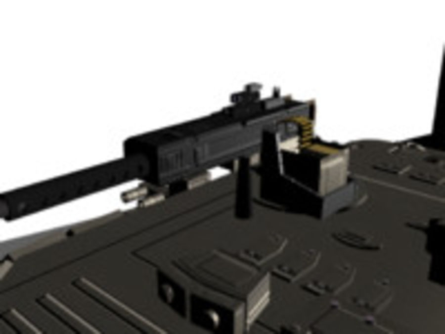 army tank royalty-free 3d model - Preview no. 3