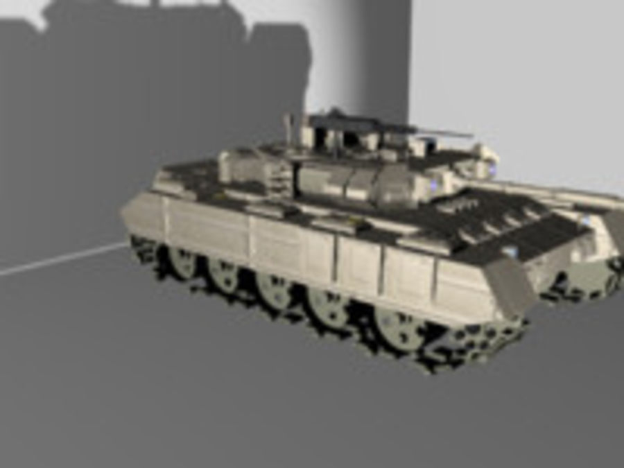 army tank royalty-free 3d model - Preview no. 1