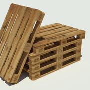 Europool wood pallet 3d model