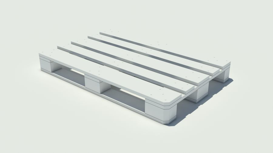 Europool houten pallet royalty-free 3d model - Preview no. 4