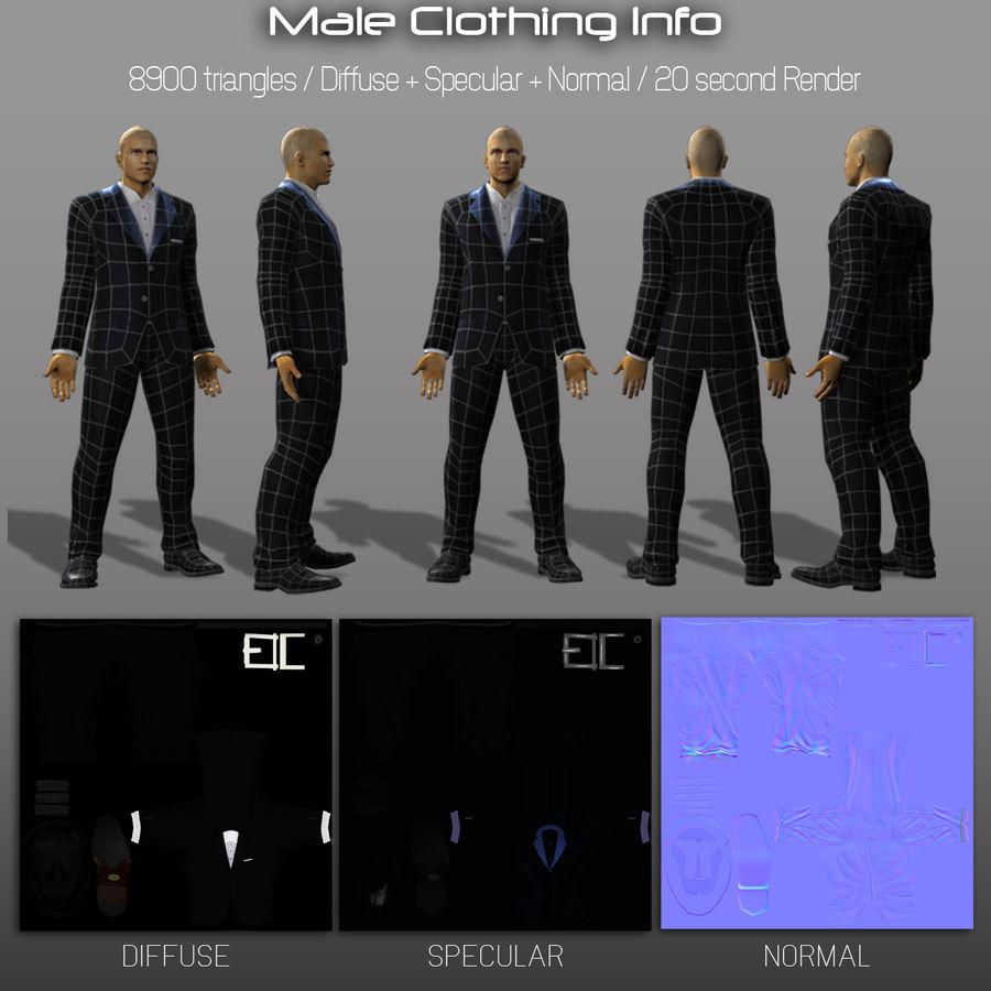 3d модель - мужское нижнее белье и костюм royalty-free 3d model - Preview no. 5