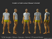 3d Model - Male Underwear & Suit 3d model