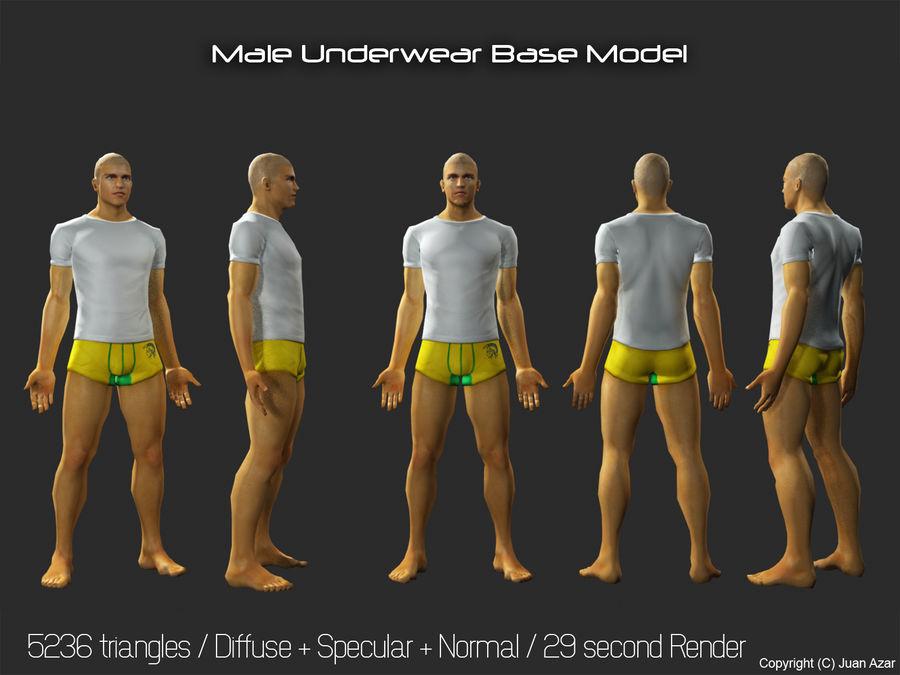 3d модель - мужское нижнее белье и костюм royalty-free 3d model - Preview no. 1