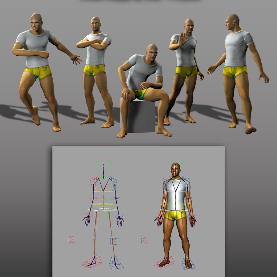 3d модель - мужское нижнее белье и костюм royalty-free 3d model - Preview no. 3