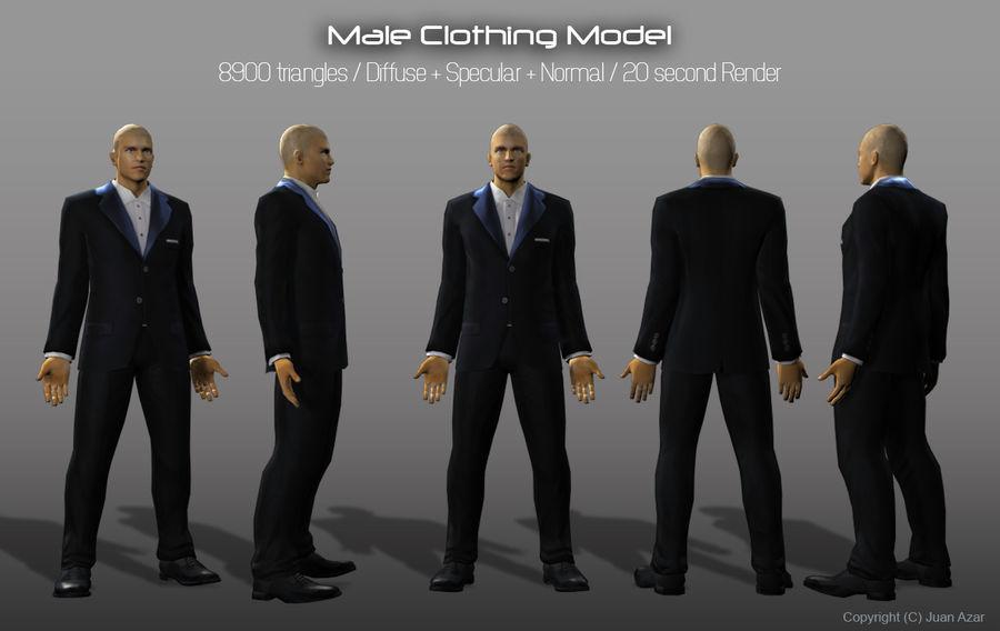 3d модель - мужское нижнее белье и костюм royalty-free 3d model - Preview no. 4