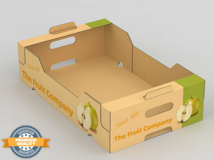 Scatola di frutta e verdura royalty-free 3d model - Preview no. 2