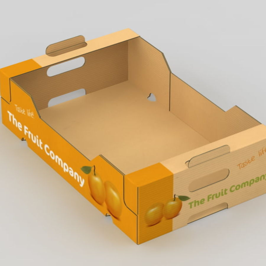 Fruit & Vegetable Box royalty-free 3d model - Preview no. 9