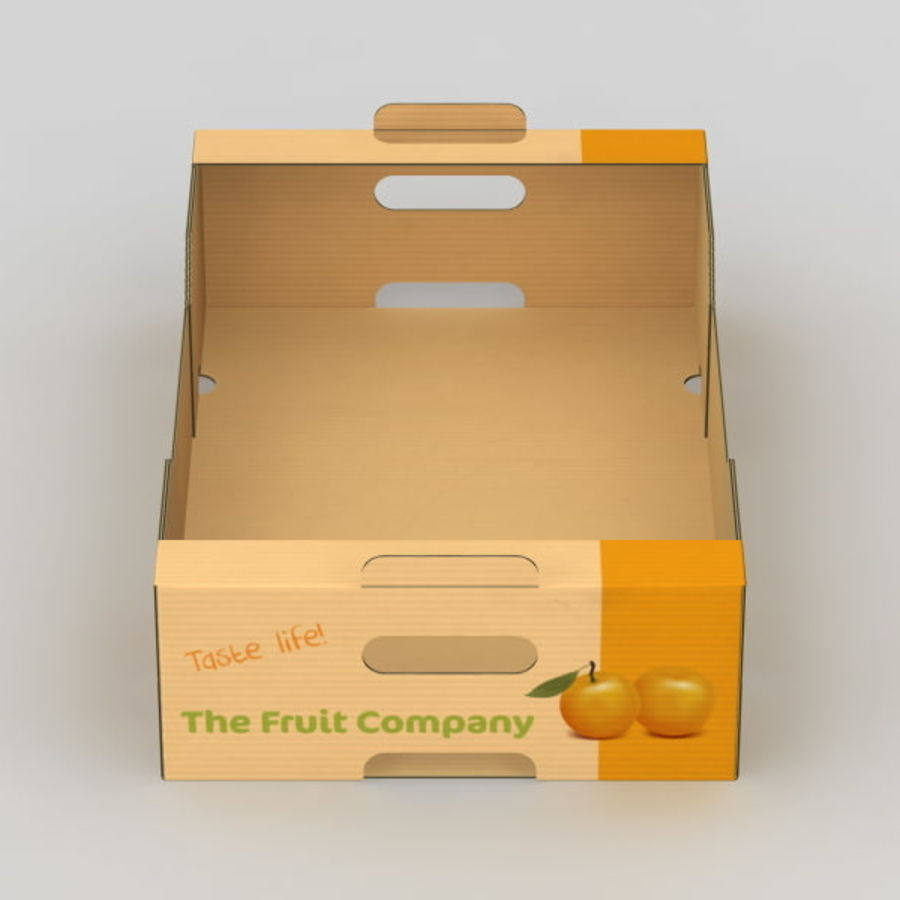 Fruit & Vegetable Box royalty-free 3d model - Preview no. 10