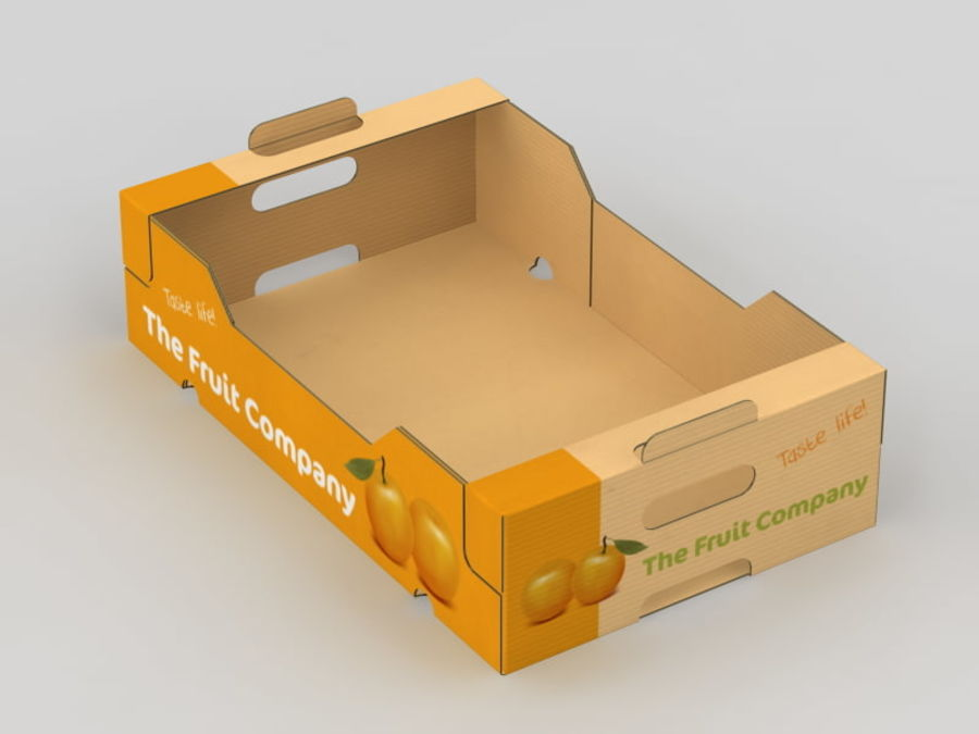 Scatola di frutta e verdura royalty-free 3d model - Preview no. 9