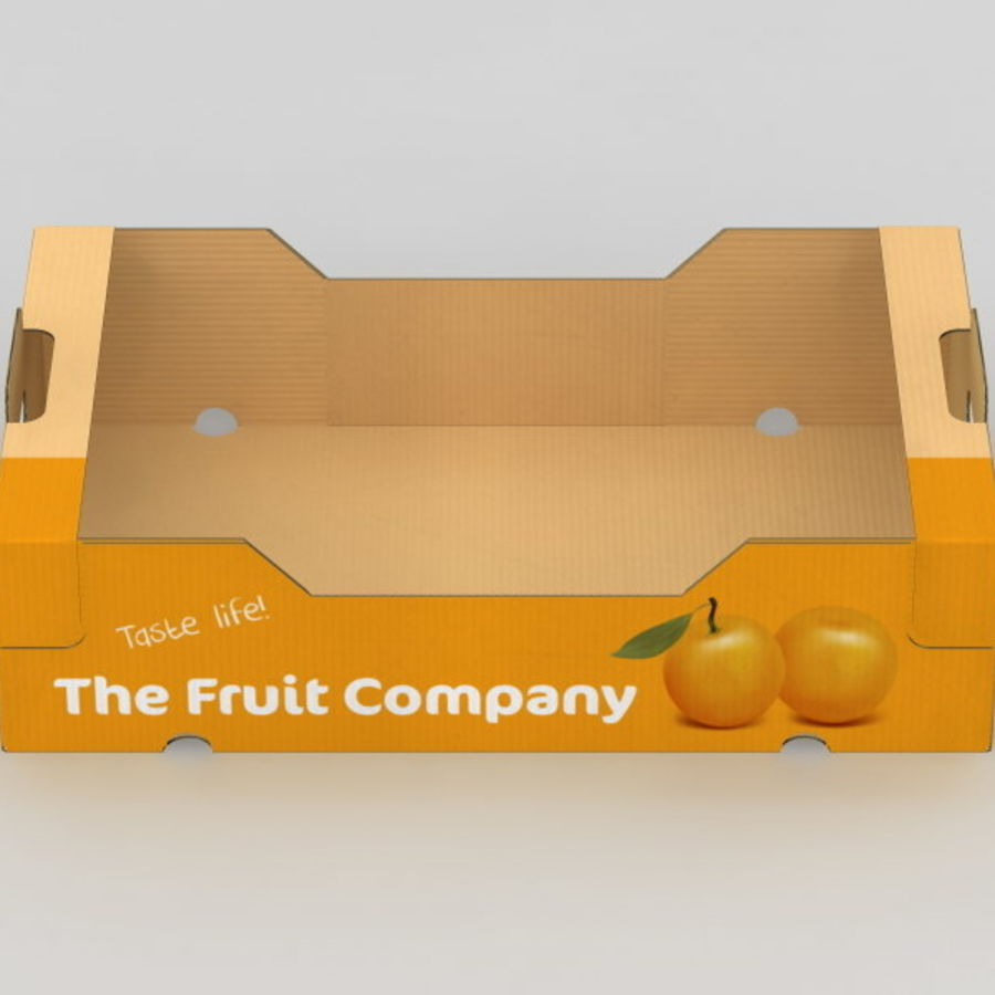 Fruit & Vegetable Box royalty-free 3d model - Preview no. 11