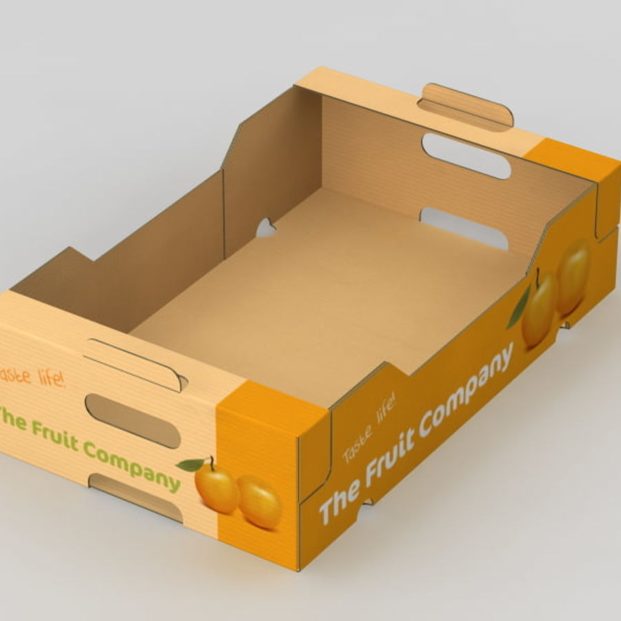 Fruit & Vegetable Box royalty-free 3d model - Preview no. 8