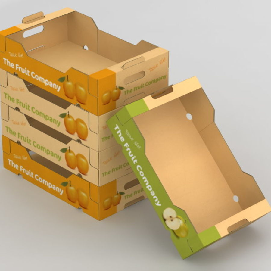 Fruit & Vegetable Box royalty-free 3d model - Preview no. 6