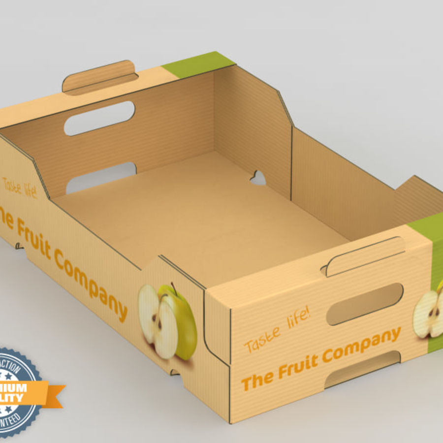 Fruit & Vegetable Box royalty-free 3d model - Preview no. 2