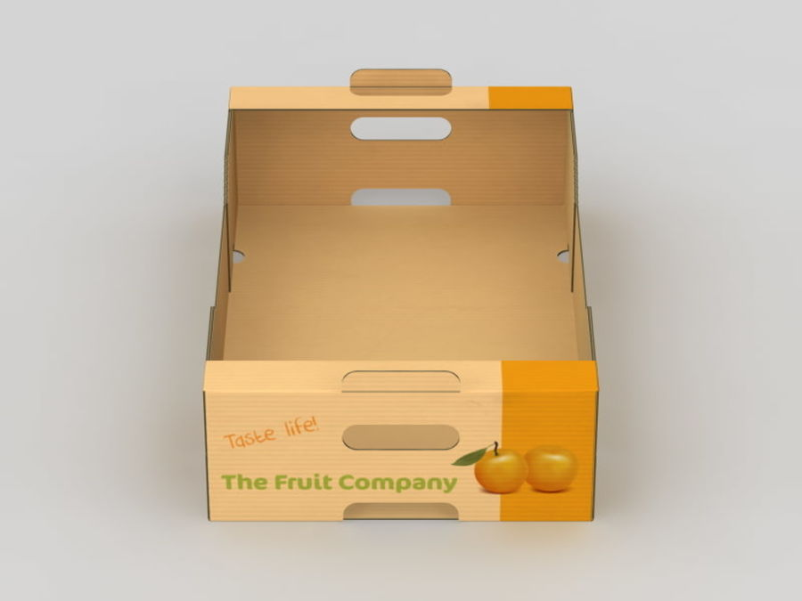 Scatola di frutta e verdura royalty-free 3d model - Preview no. 7