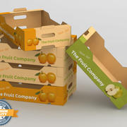 Fruit & Vegetable Box 3d model