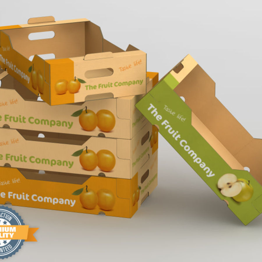 Fruit & Vegetable Box royalty-free 3d model - Preview no. 1