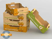 Scatola di frutta e verdura 3d model