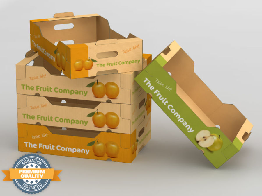 Scatola di frutta e verdura royalty-free 3d model - Preview no. 1
