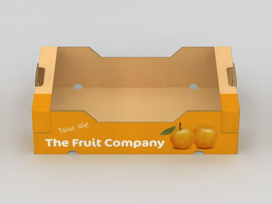 Scatola di frutta e verdura royalty-free 3d model - Preview no. 8