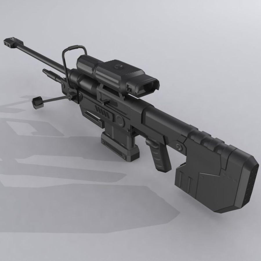 Sniper Rifle - Custom Design - Halo 3D Model $24 -  fbx  3ds