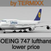 Boeing 747 Lufthansa modelo 3d