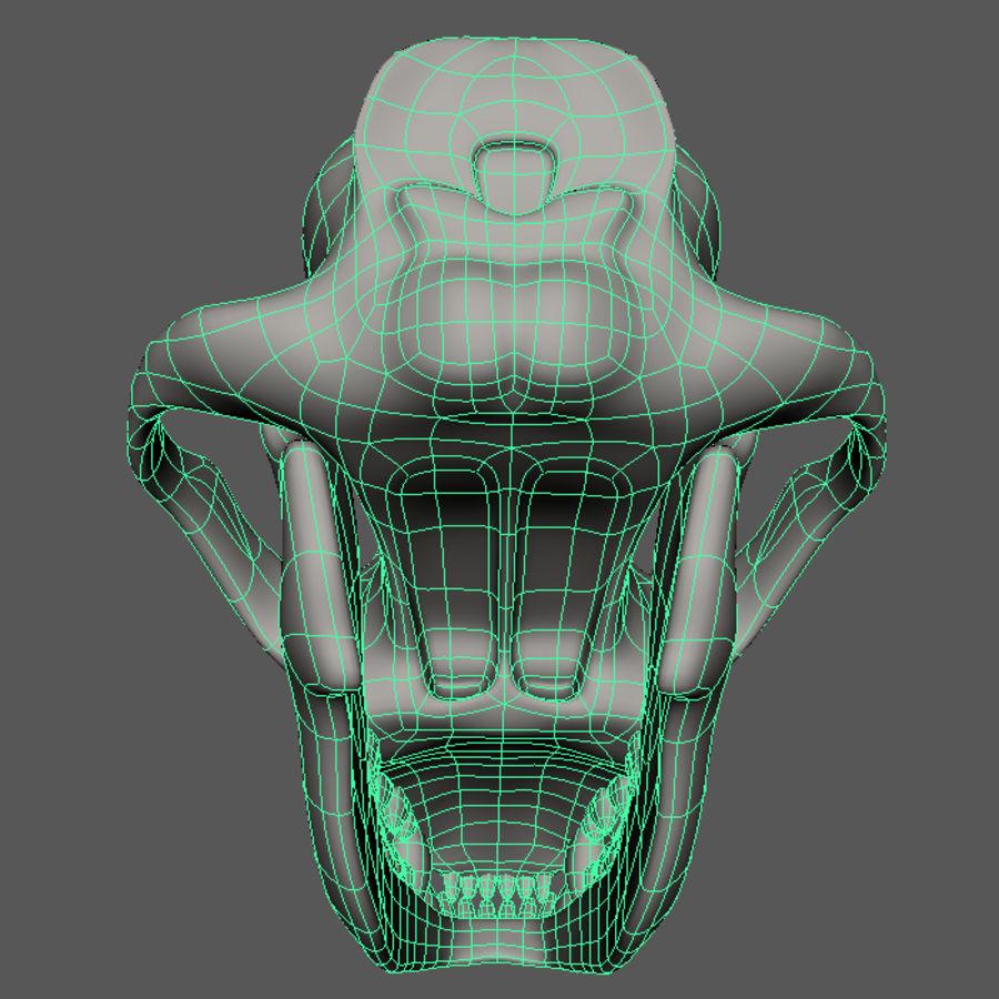 dog skull royalty-free 3d model - Preview no. 4