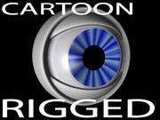 Cartoon Eyeball Rig 3d model
