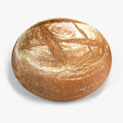 Brązowy chleb 3d model