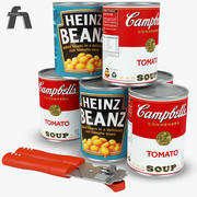 Canned Beans Tomato 3d model