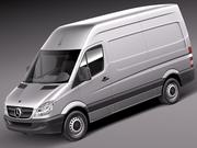 Mercedes Sprinter II Van Short High 3d model