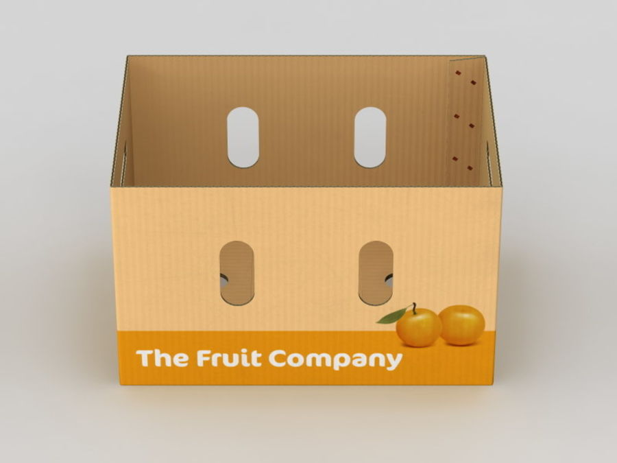 Scatola di frutta e verdura (grande) royalty-free 3d model - Preview no. 8