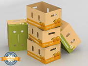 Fruit & Vegetable Box (Large) 3d model