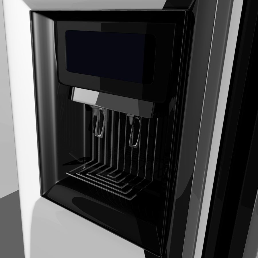20120624 Refrigerator royalty-free 3d model - Preview no. 2