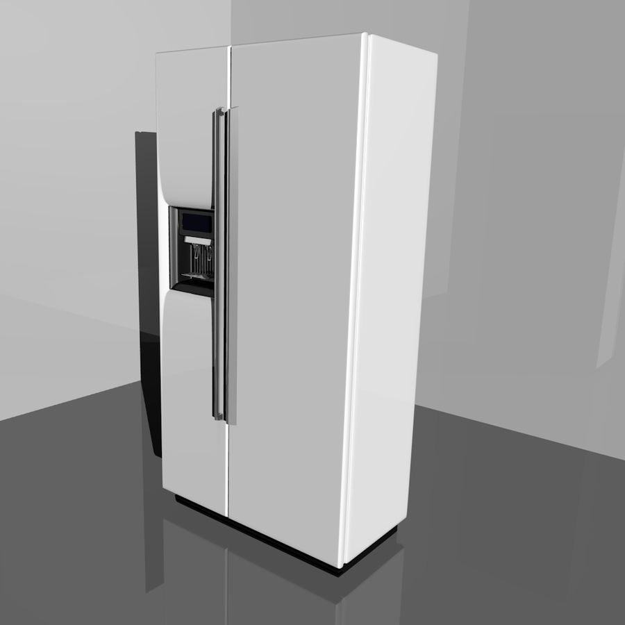 20120624 Refrigerator royalty-free 3d model - Preview no. 1