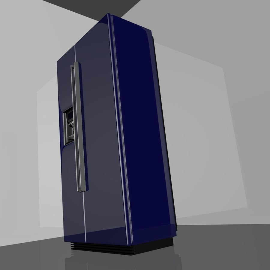 20120624 Refrigerator royalty-free 3d model - Preview no. 5