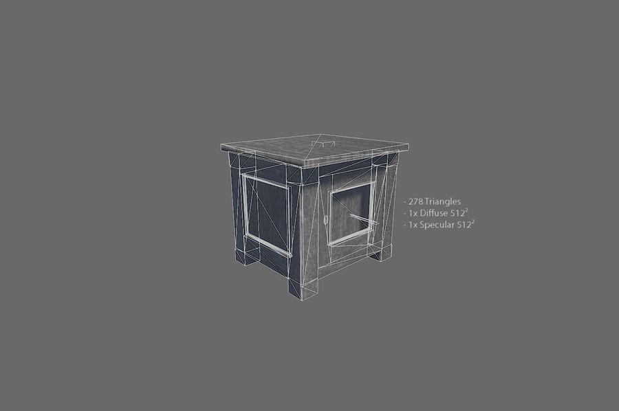 Vardagsrum möbler royalty-free 3d model - Preview no. 5
