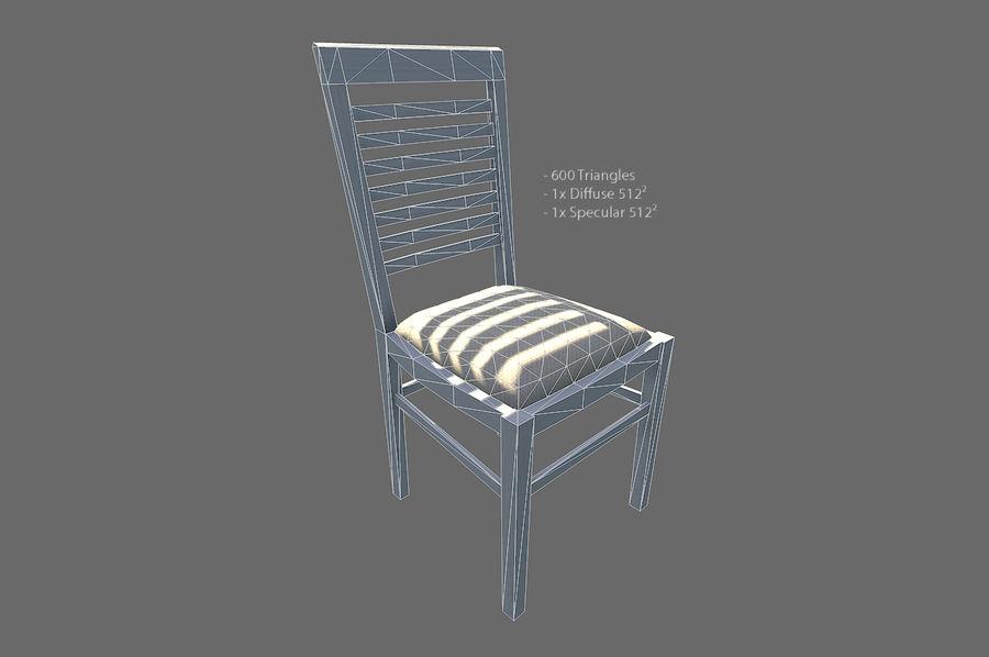 Vardagsrum möbler royalty-free 3d model - Preview no. 7