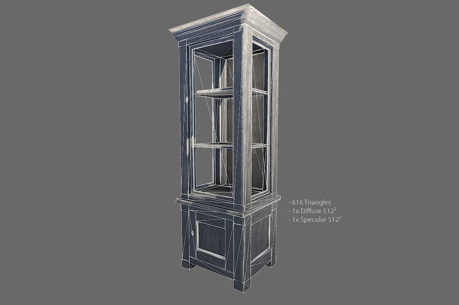 Vardagsrum möbler royalty-free 3d model - Preview no. 3