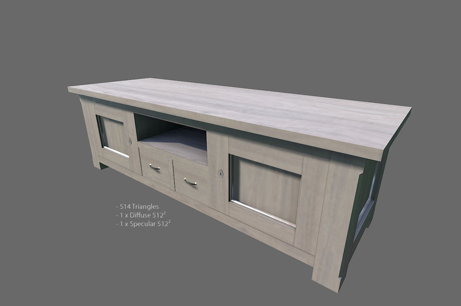 Vardagsrum möbler royalty-free 3d model - Preview no. 18