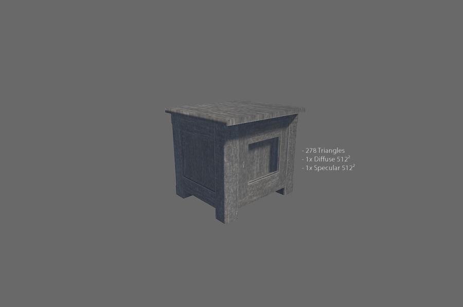 Vardagsrum möbler royalty-free 3d model - Preview no. 4