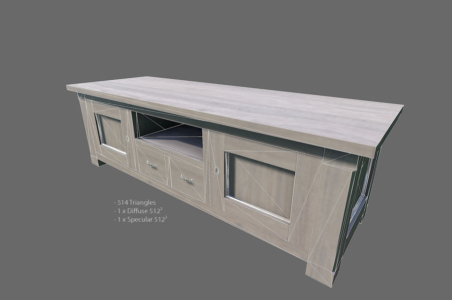 Vardagsrum möbler royalty-free 3d model - Preview no. 19