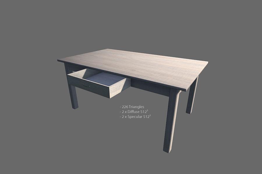 Vardagsrum möbler royalty-free 3d model - Preview no. 14