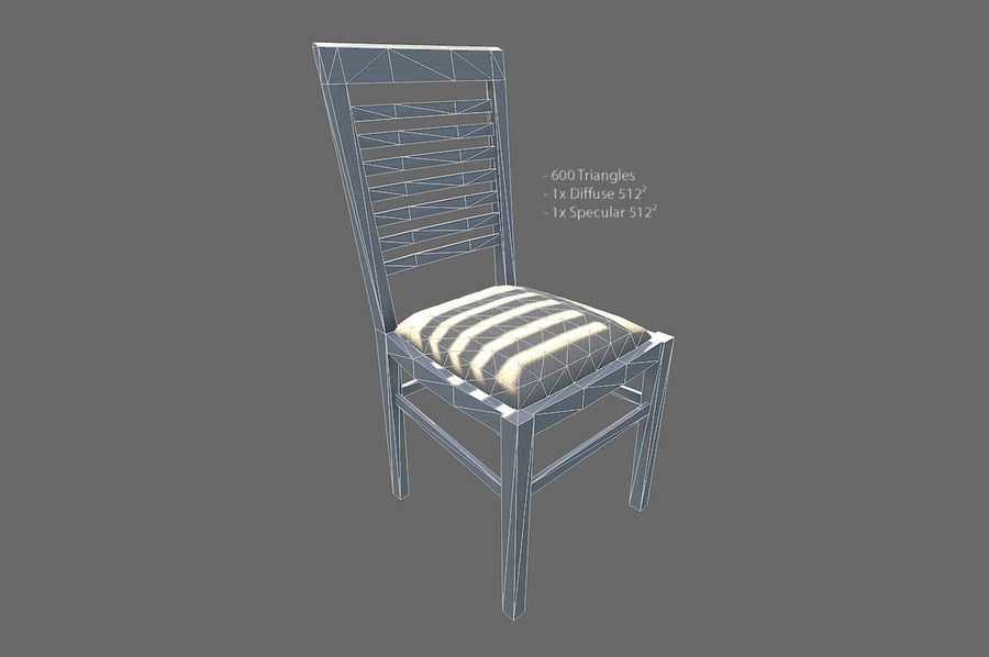Meble do salonu royalty-free 3d model - Preview no. 7