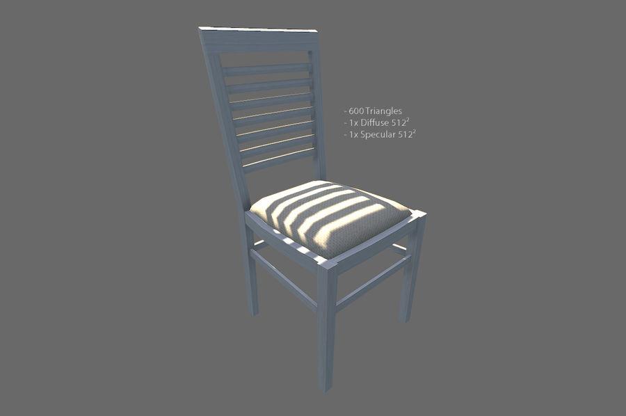 Vardagsrum möbler royalty-free 3d model - Preview no. 6