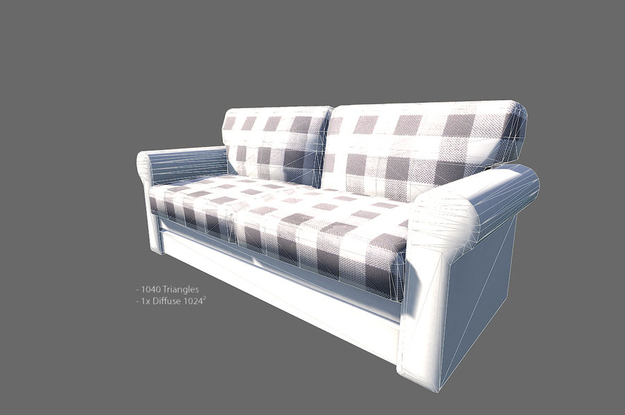 Vardagsrum möbler royalty-free 3d model - Preview no. 11