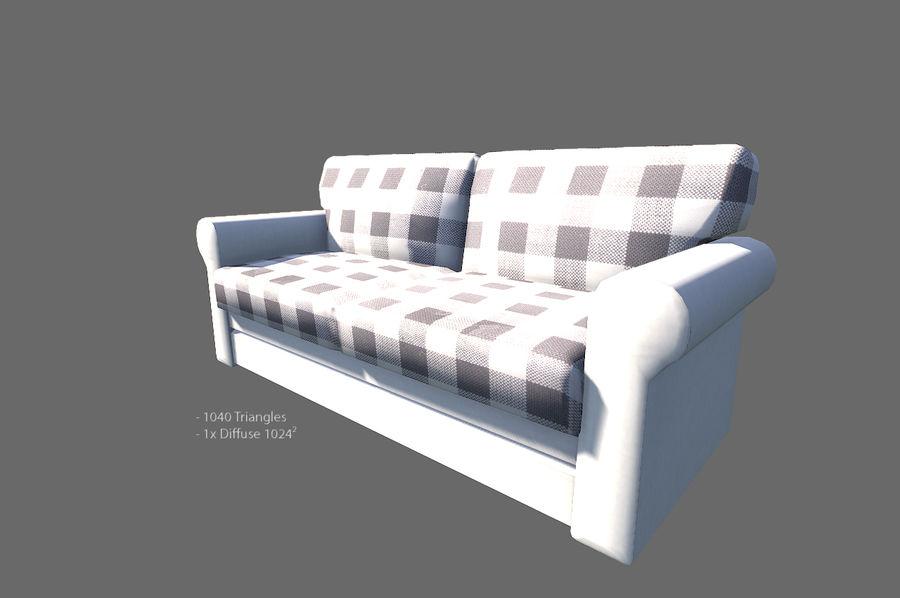 Vardagsrum möbler royalty-free 3d model - Preview no. 10