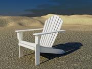 애디 론댁 의자 3d model