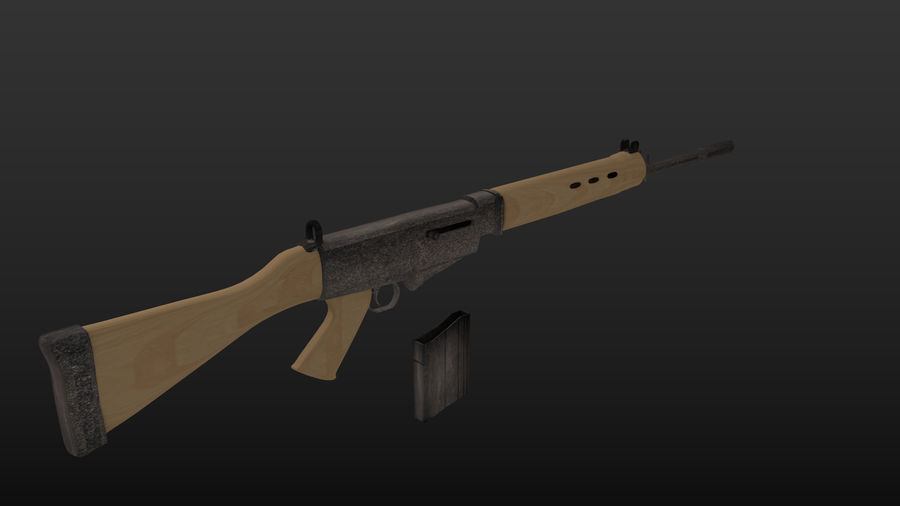 Fn-fal royalty-free 3d model - Preview no. 3